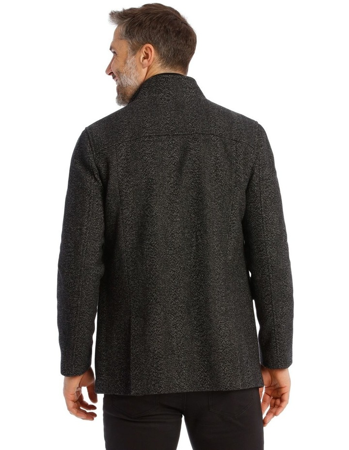 Charcoal Edinburgh Herringbone Coat image 3