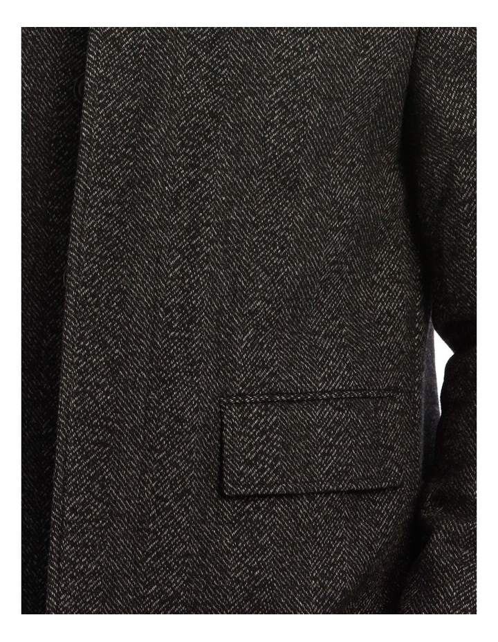 Charcoal Edinburgh Herringbone Coat image 4