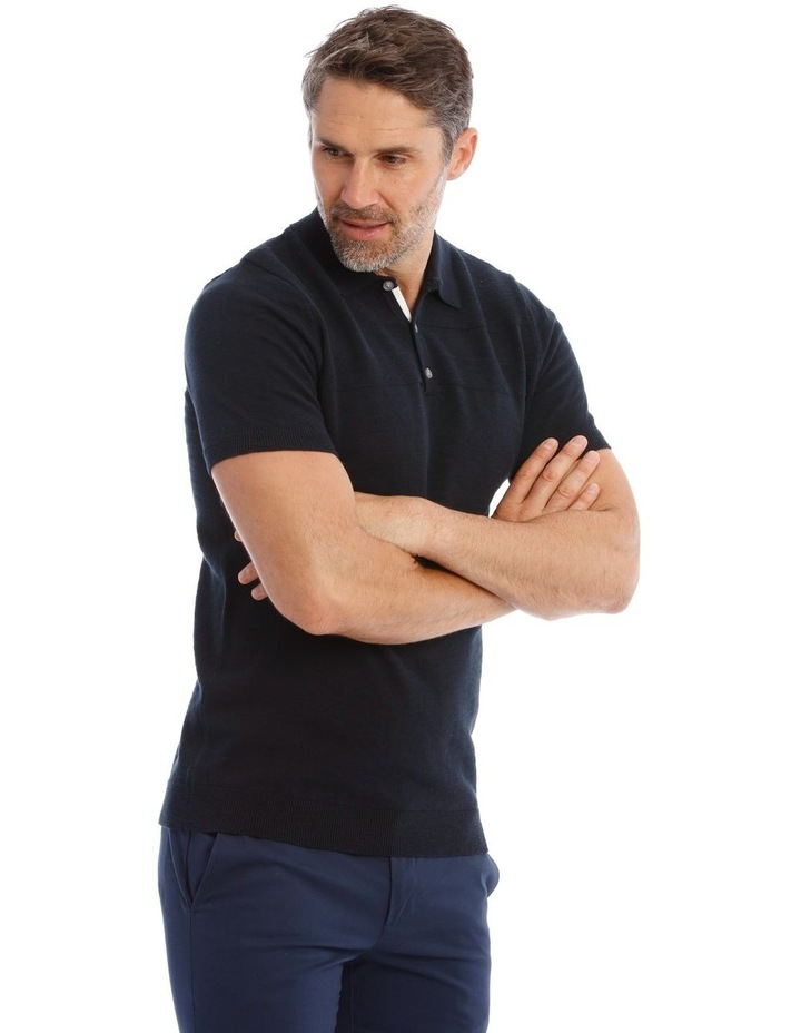 Diablo Knit Polo In Black image 2