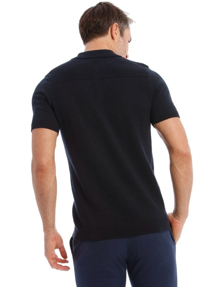 Diablo Knit Polo In Black image 3