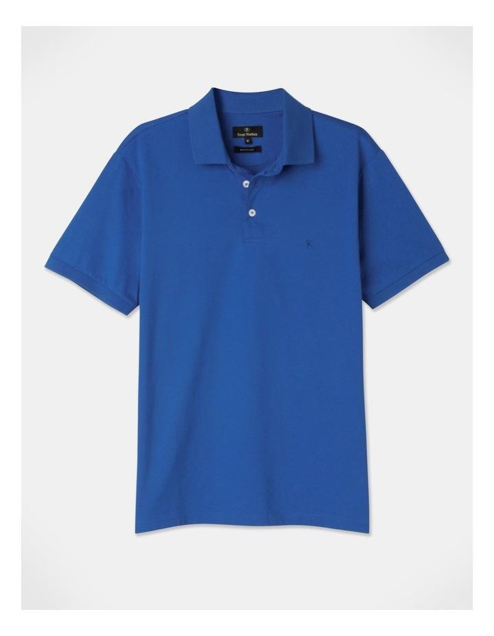 Premium Mercerised Plain Polo Blue image 1
