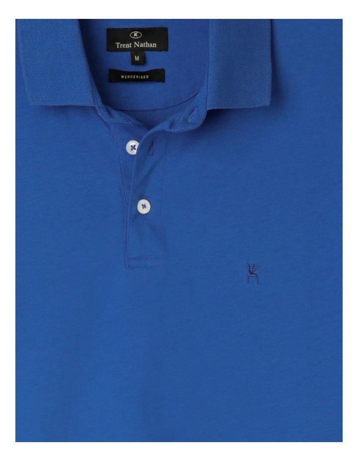 Premium Mercerised Plain Polo Blue image 2