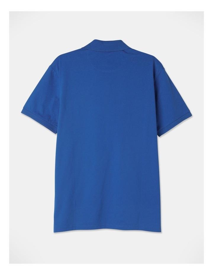 Premium Mercerised Plain Polo Blue image 3
