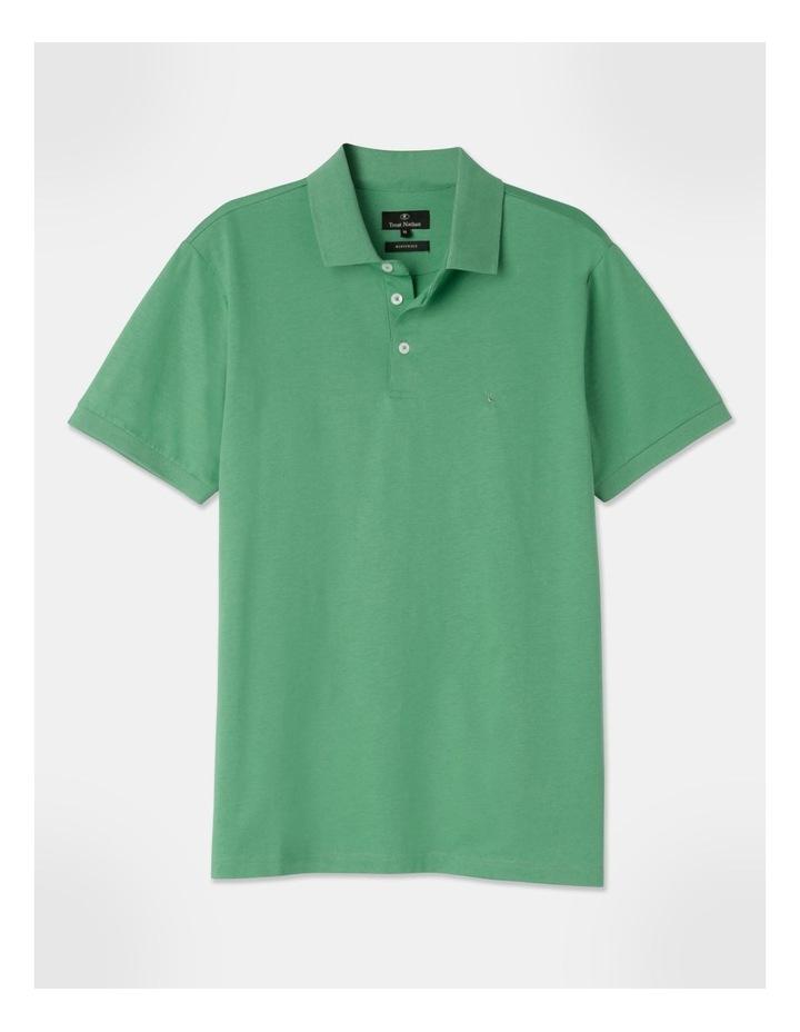 Premium Mercerised Plain Polo Green image 1
