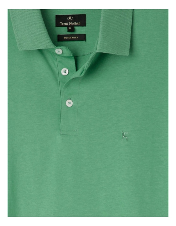 Premium Mercerised Plain Polo Green image 2