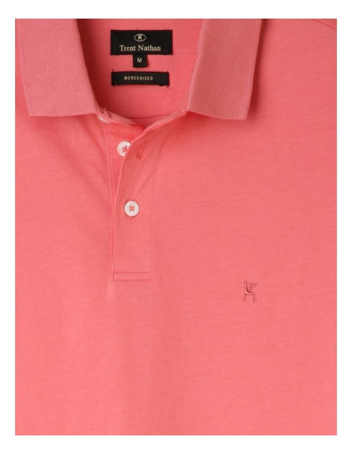 Premium Mercerised Plain Polo Pink image 2