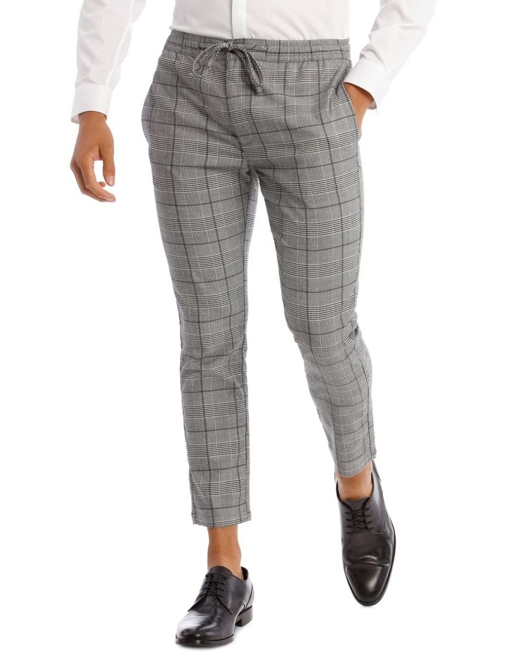 Xavier Check Pant With Elastic Waist image 1