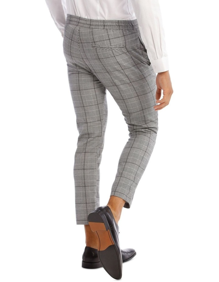 Xavier Check Pant With Elastic Waist image 3