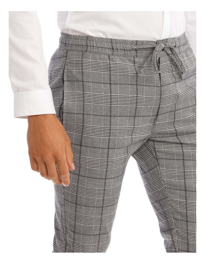 Xavier Check Pant With Elastic Waist image 4