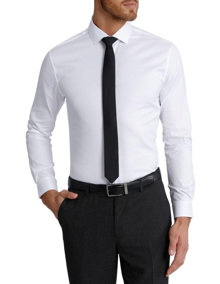 Slim Fit Dinner Self Stripe Business Shirt image 1
