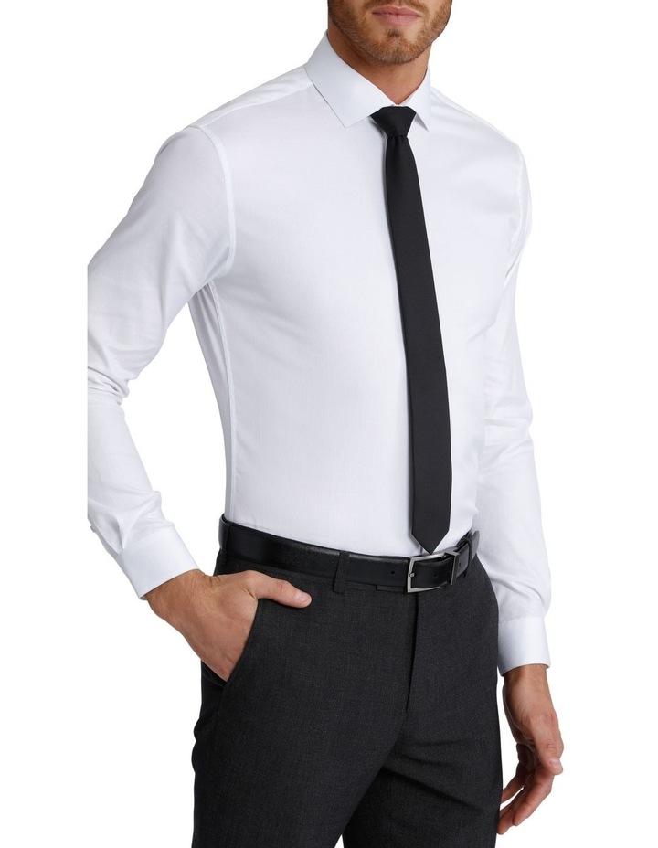 Slim Fit Dinner Self Stripe Business Shirt image 4