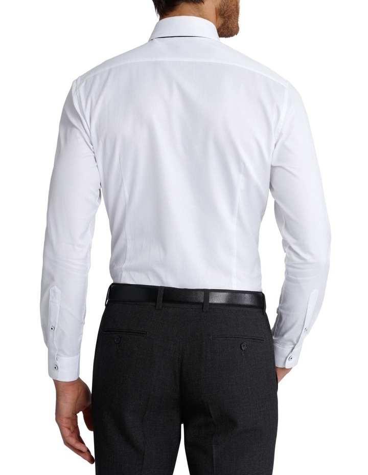 Slim Fit Dinner Self Stripe Business Shirt image 3