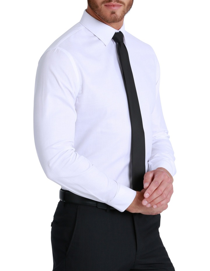 Slim Fit Harley Textured Plain Shirt image 3