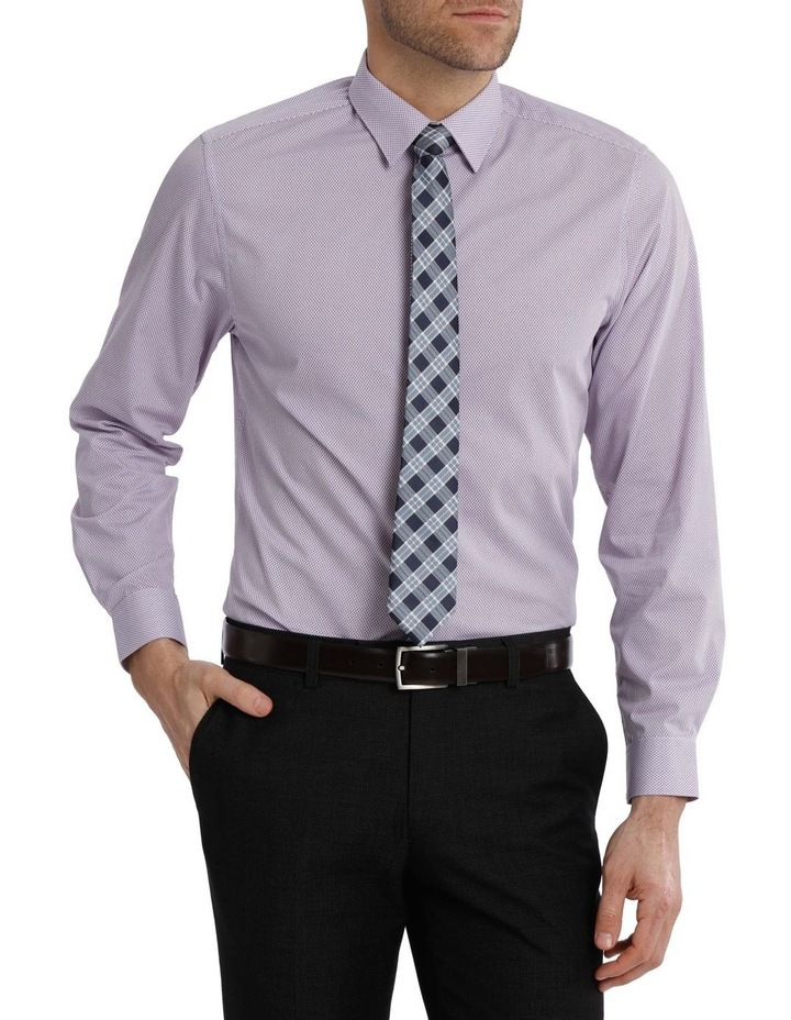 Tailored Fit Net Print Business Shirt image 1