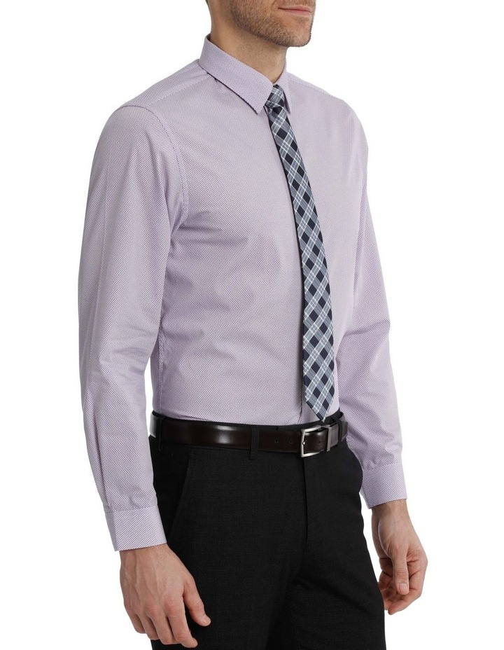 Tailored Fit Net Print Business Shirt image 2