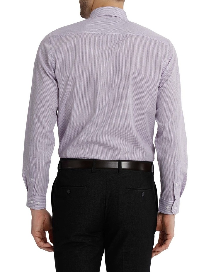 Tailored Fit Net Print Business Shirt image 3