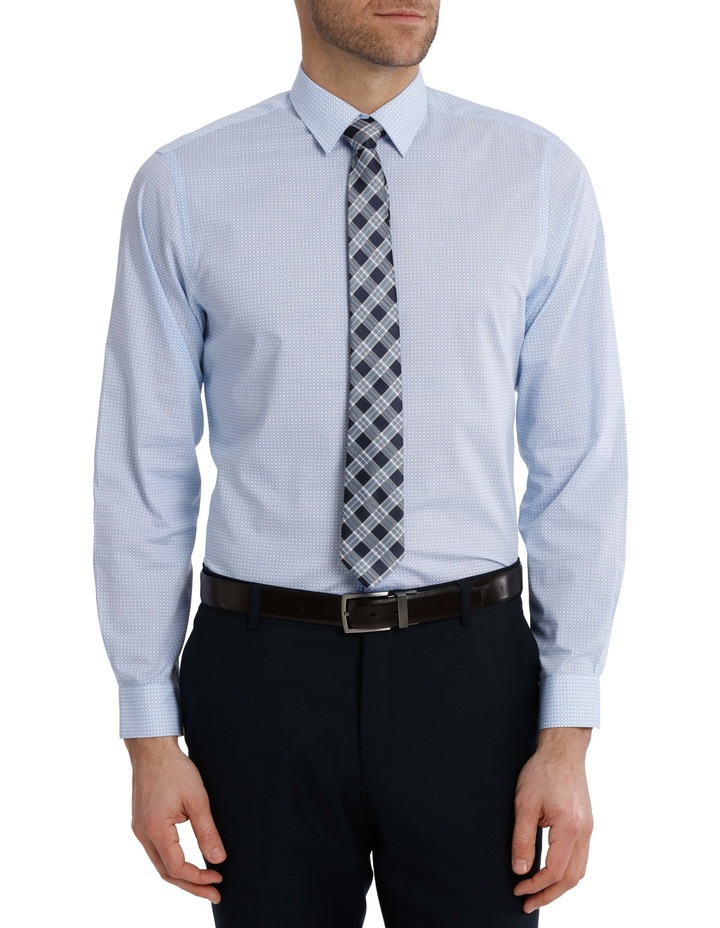 Tailored Fit Light Blue Chain Print image 1