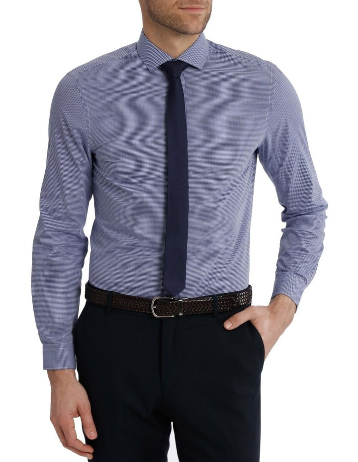 Slim Fit Navy Mini Gingham image 1