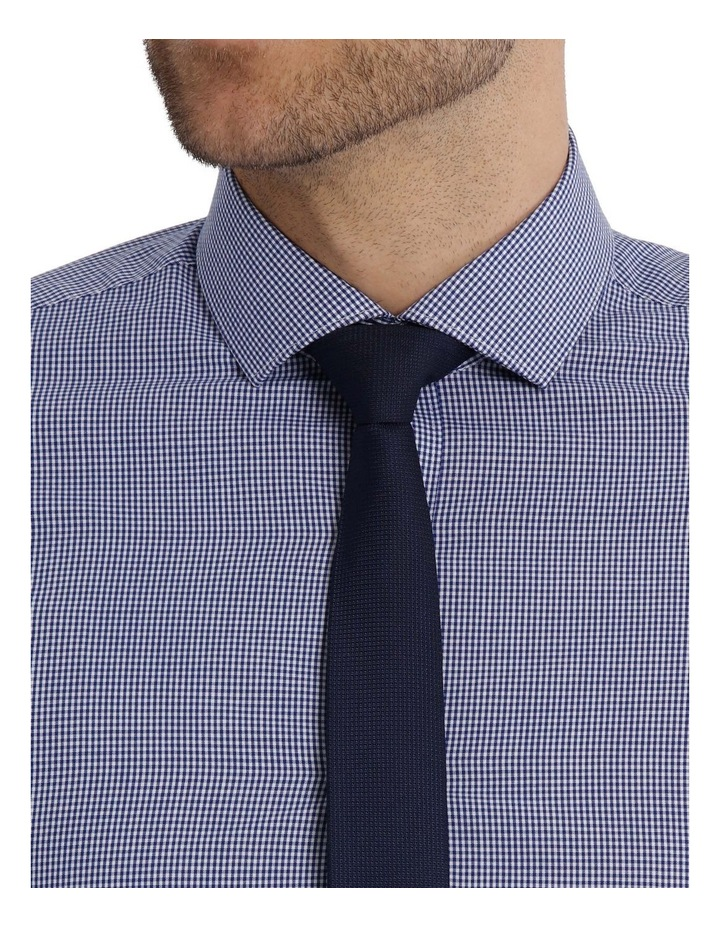 Slim Fit Navy Mini Gingham image 4