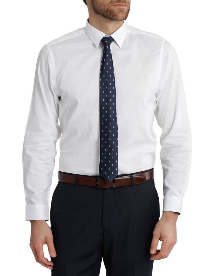 Blaq Tailored Fit White Damod Texture image 1