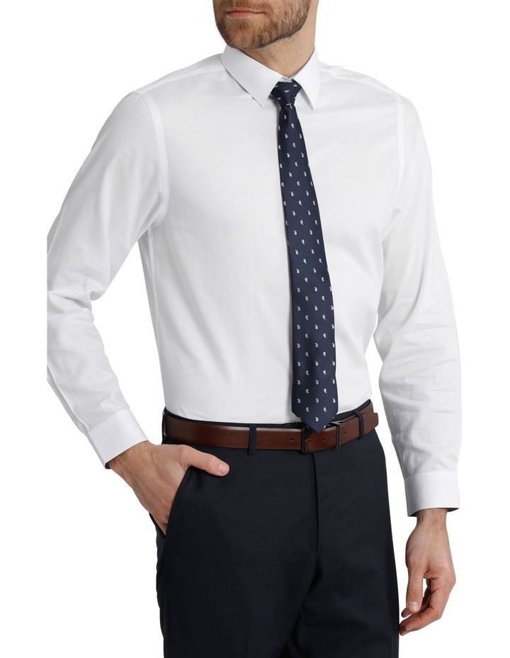 Tailored Fit Damod Texture Business Shirt image 2