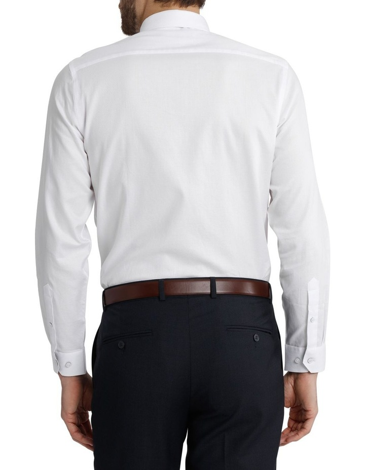 Blaq Tailored Fit White Damod Texture image 3