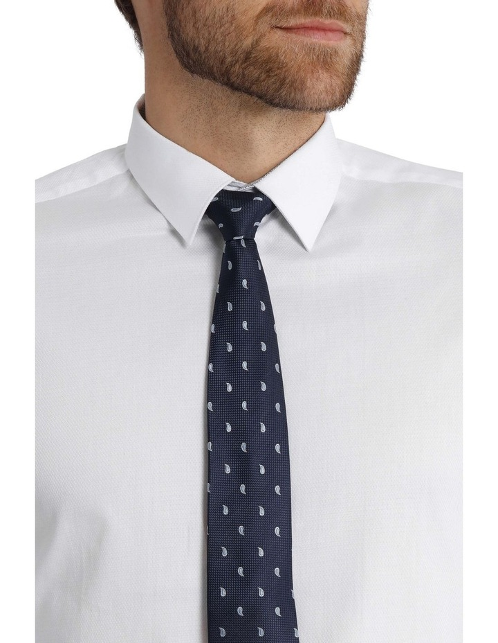 Tailored Fit Damod Texture Business Shirt image 4