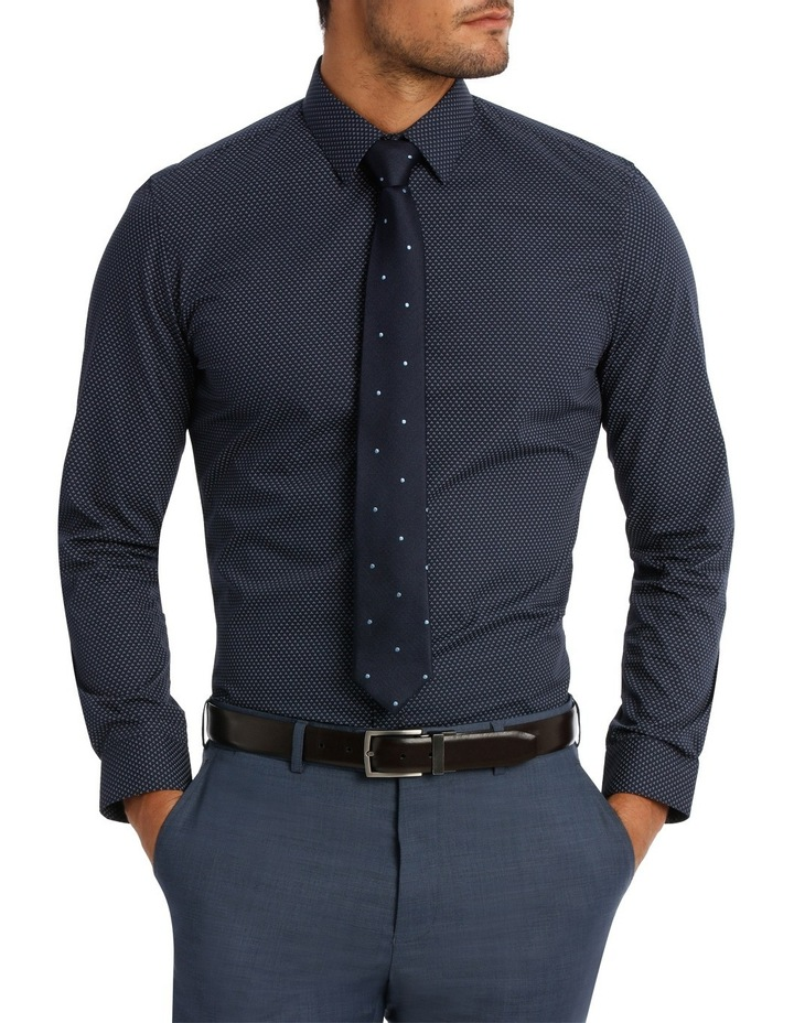 Slim Fit Navy Tri Dot Print image 1