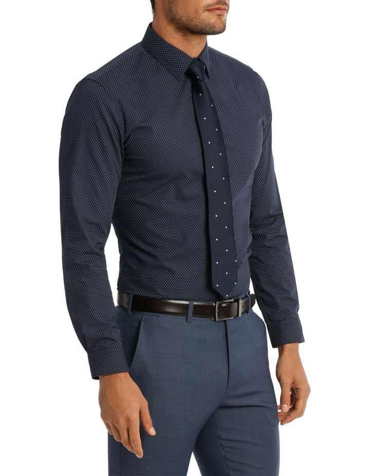 Slim Fit Navy Tri Dot Print image 2