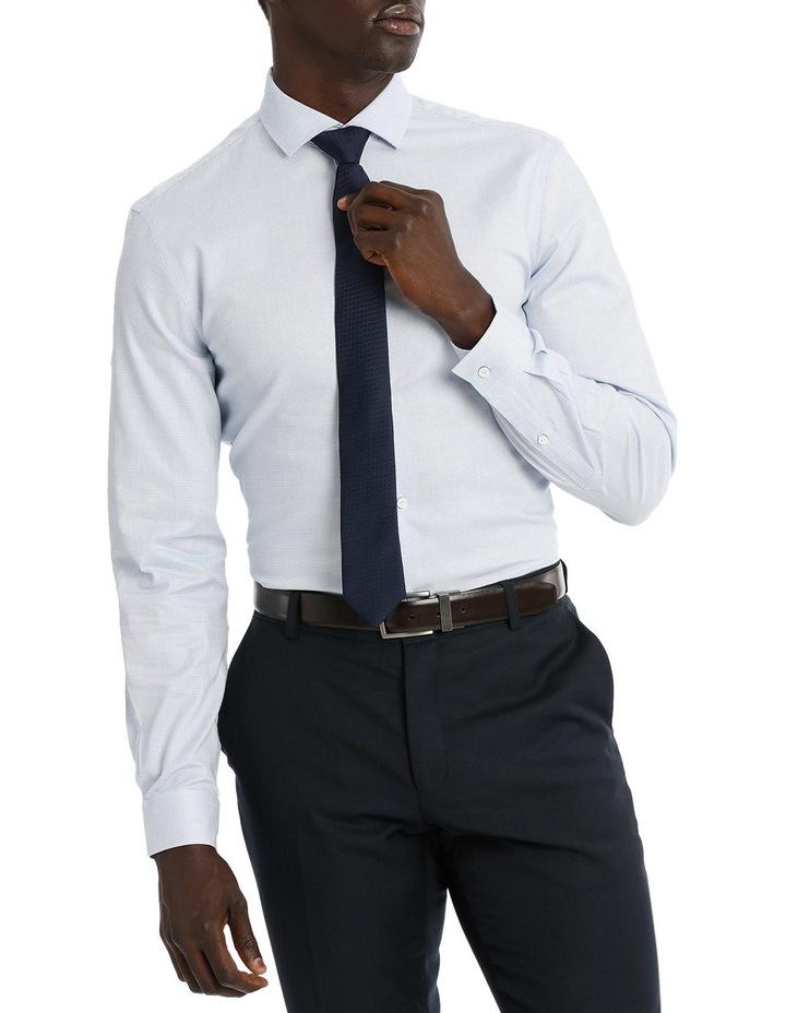 Blaq Slim Fit Blue Textured Stretch image 1