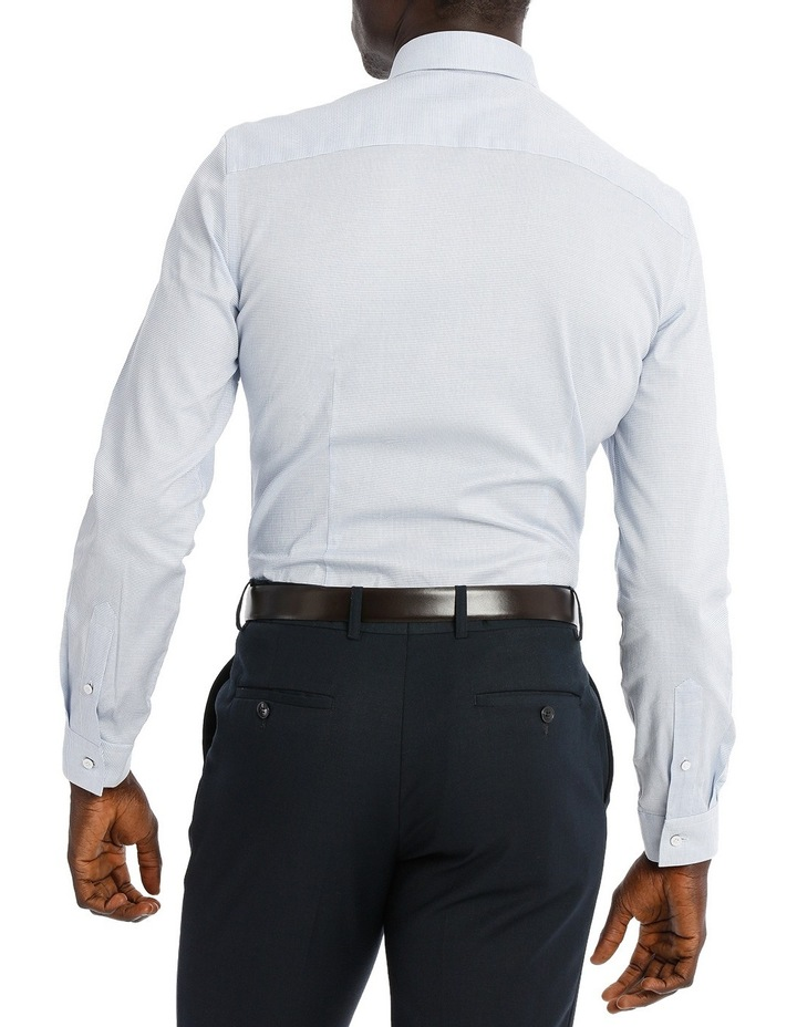 Blaq Slim Fit Blue Textured Stretch image 3