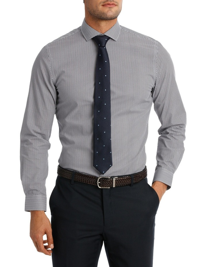 Slim Fit Navy Triangle Print With Spot image 1