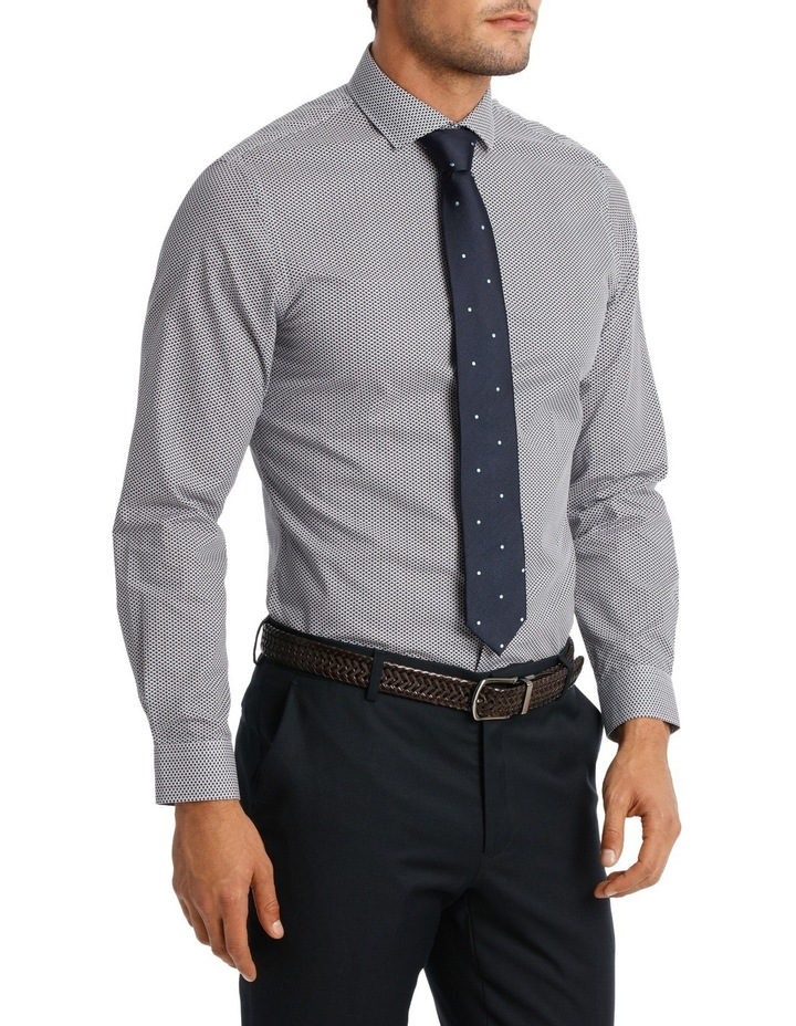 Slim Fit Navy Triangle Print With Spot image 2