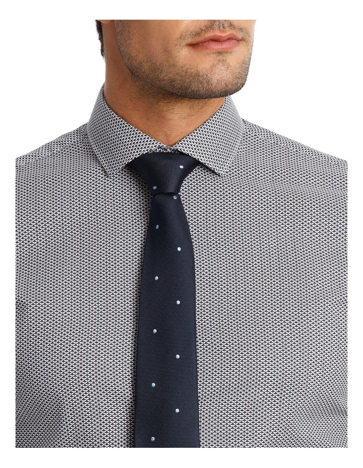 Slim Fit Navy Triangle Print With Spot image 4