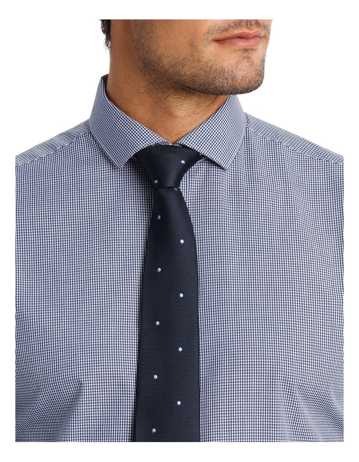 Tailored Fit Navy Mini Gingham image 4