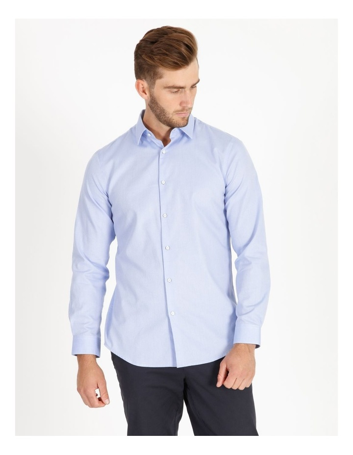 Tailored Fit Damond Texture Business Shirt image 1