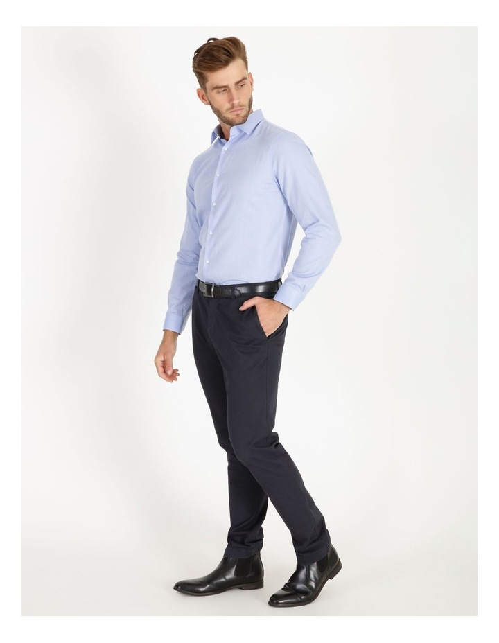 Tailored Fit Damond Texture Business Shirt image 2