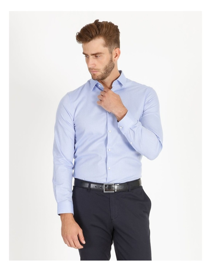 Tailored Fit Damond Texture Business Shirt image 3