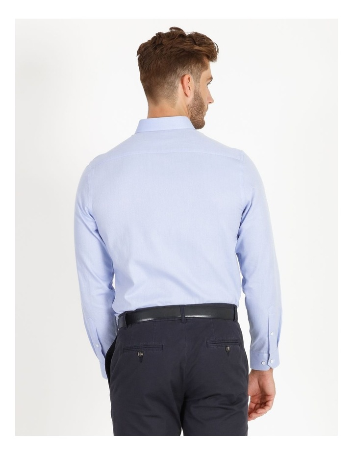 Tailored Fit Damond Texture Business Shirt image 4