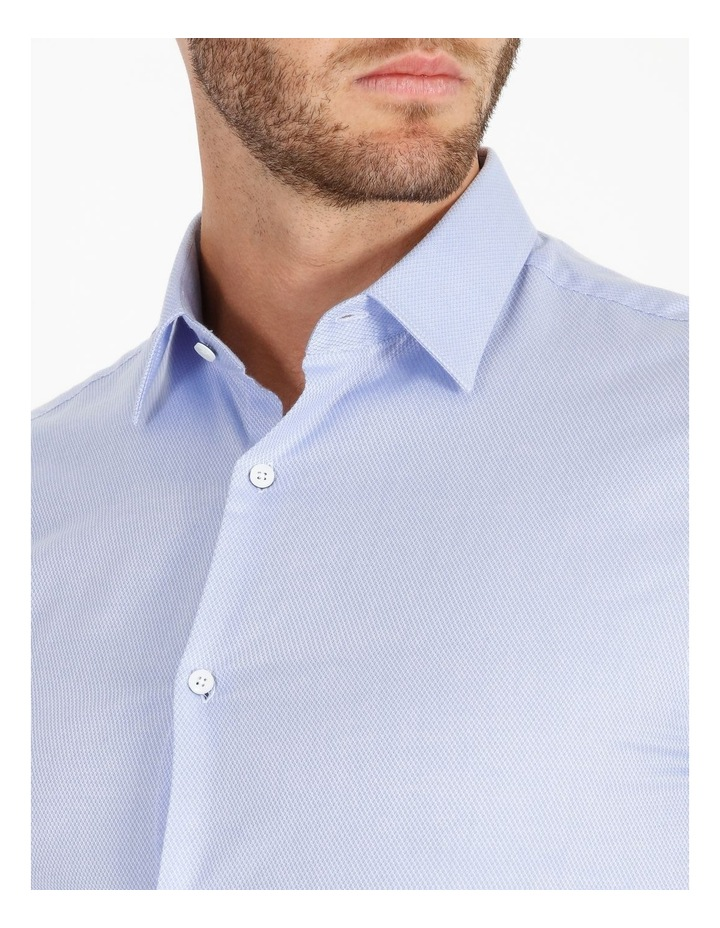Tailored Fit Damond Texture Business Shirt image 5