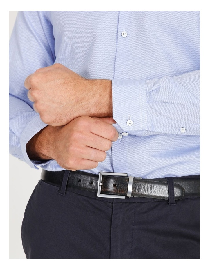 Tailored Fit Damond Texture Business Shirt image 6