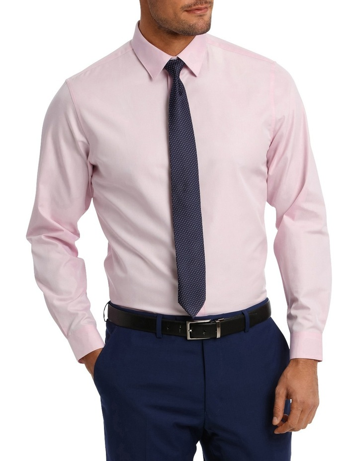 Tailored Fit Pink Twill image 1