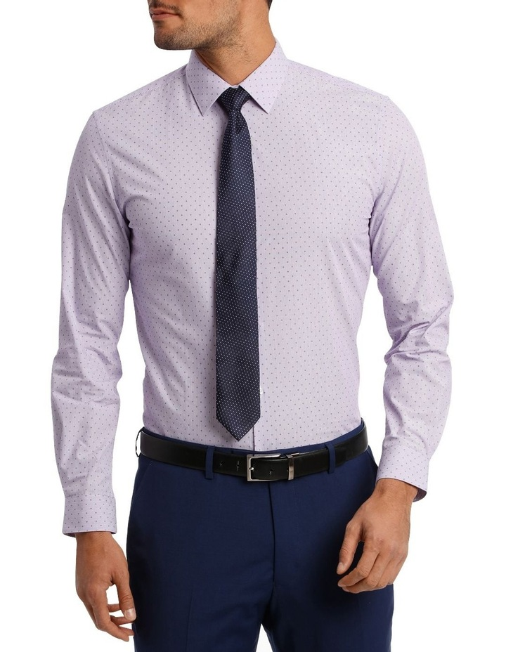 Slim Fit Lilac Fine Stripe With Spot image 2
