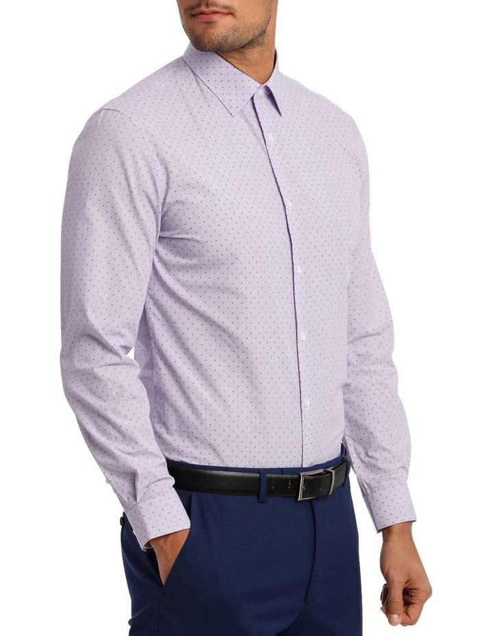 Slim Fit Lilac Fine Stripe With Spot image 4