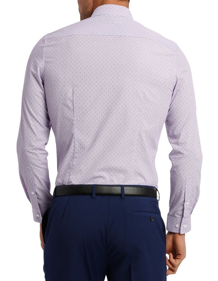 Slim Fit Lilac Fine Stripe With Spot image 6