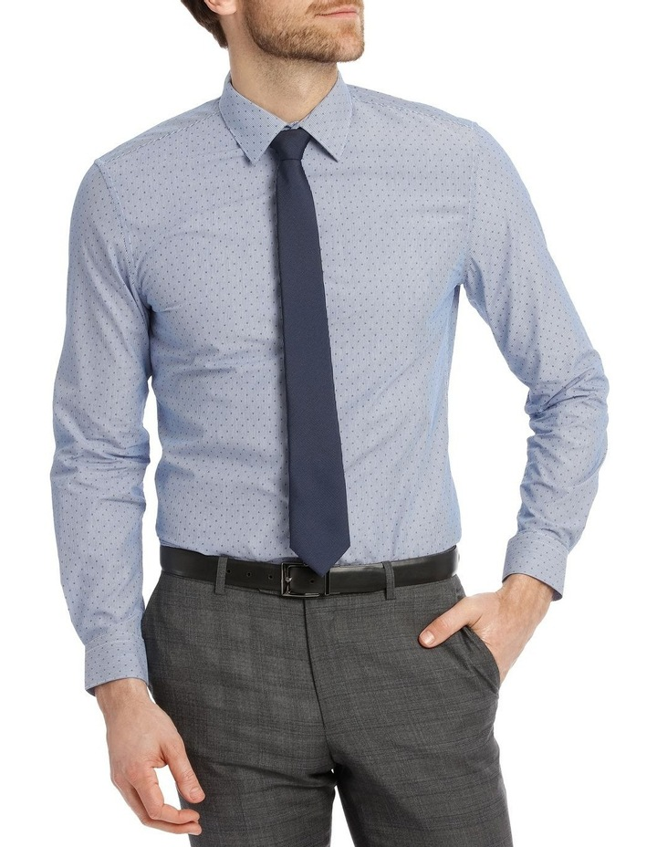 Slim Fit Blue Fine Stripe With Spot image 2