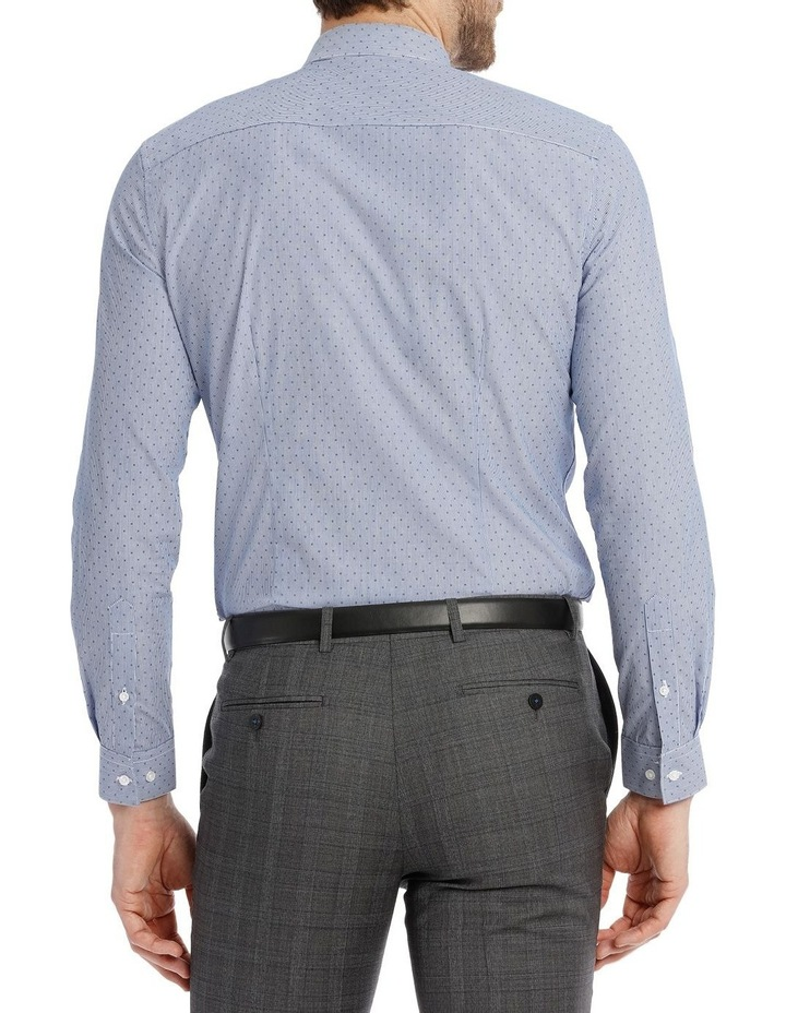 Slim Fit Blue Fine Stripe With Spot image 6