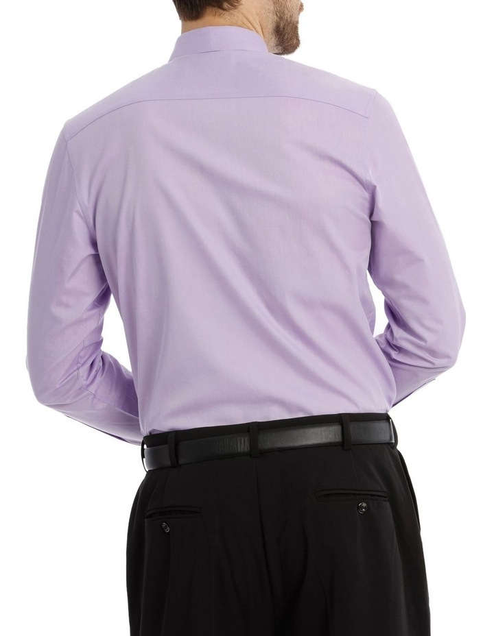 Tailored Fit Lilac Twill image 6