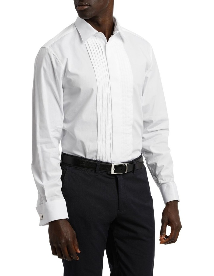 Tailored Fit Pleat Front Dress Shirt image 4