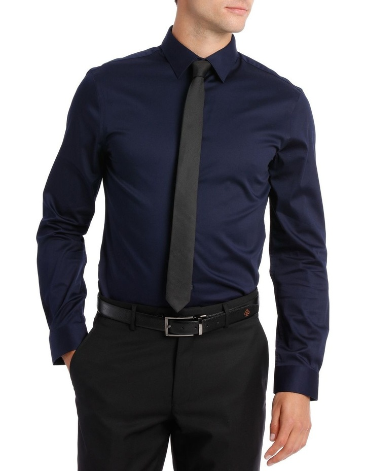 BLAQ SLIM FIT BSHW19001 NAVY COTTON STRETCH image 1